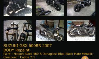 Suzuki GSX 600R '2007 Body Repaint.