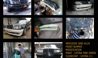 Mercedes 300E 1989, Modifikasi bumper depan.