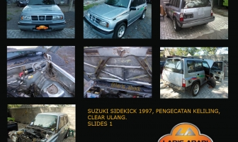 Suzuki Sidekick 1997, Cat Keliling, Clear Ulang Total.