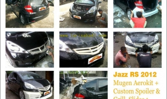 Honda Jazz RS 2012, Bodykit Mugen dan Custom Wing + Grill.