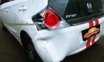 Honda Brio 2012, Rekondisi Bumper Belakang