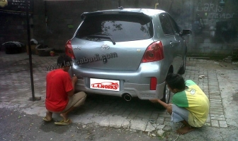 Toyota Yaris 2013, Bodykit Fitting & Painting