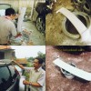 Honda CRV 04, Pembuatan Spoiler Atap.