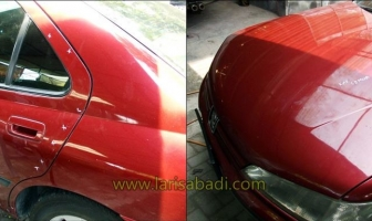 Peugeot 406, Pengecatan Kap Mesin & Pintu-pintu Kiri