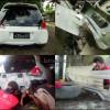 Honda Brio Satya, Pembuatan Bodykit Belakang & Samping.