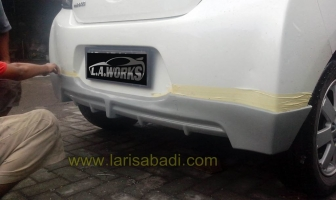 Mitsubishi Mirage 2014, Pemasangan & Pengecatan Bodykit Add On