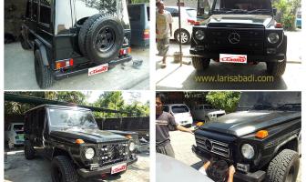 Mercedes Benz 280 GE, Pemasangan & Pengecatan Bodykit