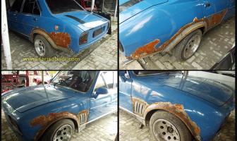 1980 Peugeot 504, Singa Tua berwarna Biru