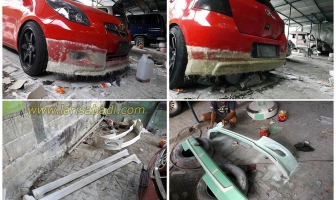 Toyota Yaris 2008, Pembuatan Bodykit Add On Custom