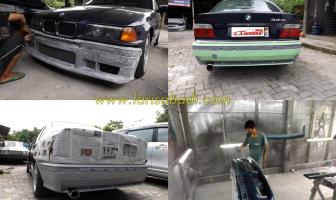 BMW 320i E36, Pemasangan Bodykit dan Spoiler