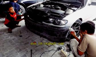 BMW 318i E46, Pemasangan Bodykit M3 Lokal