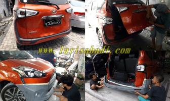 Toyota Sienta, Pemasangan Bodykit dan Perbaikan Pintu Bagasi