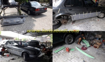 BMW E30, Pasang dan Cat Bodykit M3 Sedan