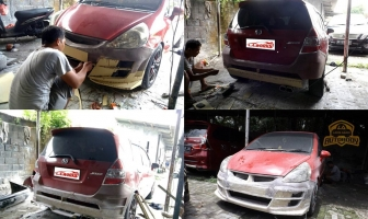 Modifikasi Bodykit Custom di Jazz 2006