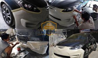 Mazda 2 Lagi nih, Pembuatan Bodykit Custom