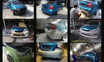 Pembuatan Bodykit Custom Chevrolet Kalos – Lova (Aveo Sedan) Ex Taxi