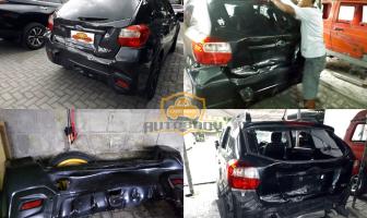 Perbaikan Body Subaru XV yang Kecelakaan