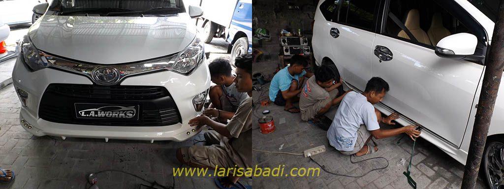 Pemasangan Bodykit Toyota Calya