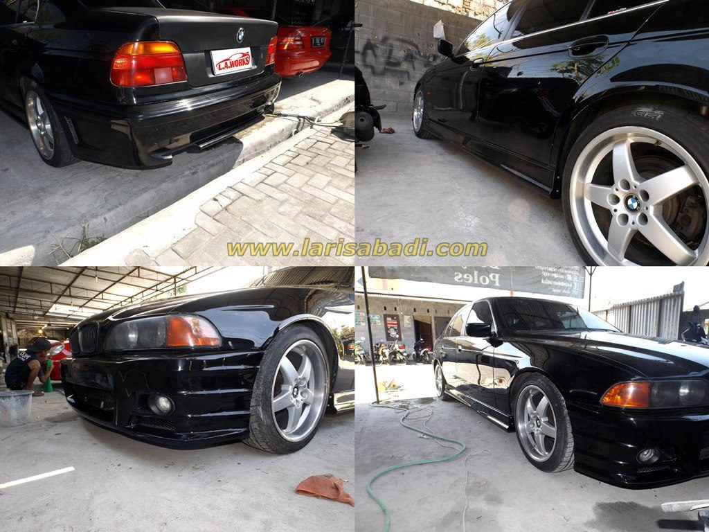 BMW E39 with custom bumpers.