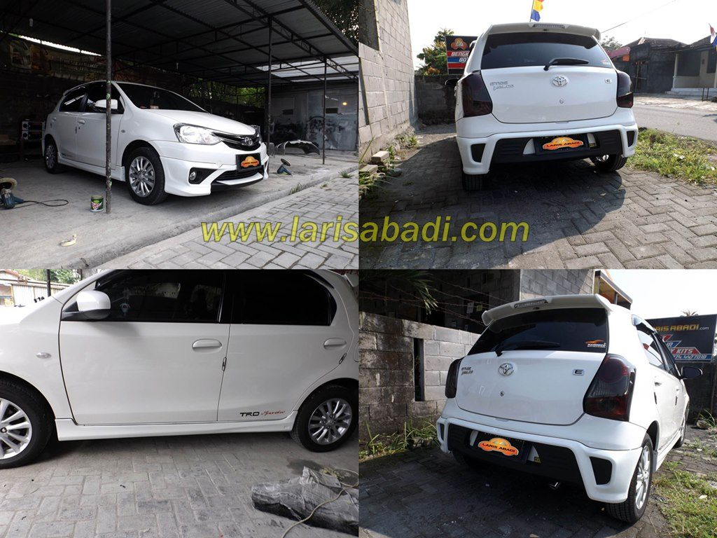 Toyota Etios with Tom's Bodykit
