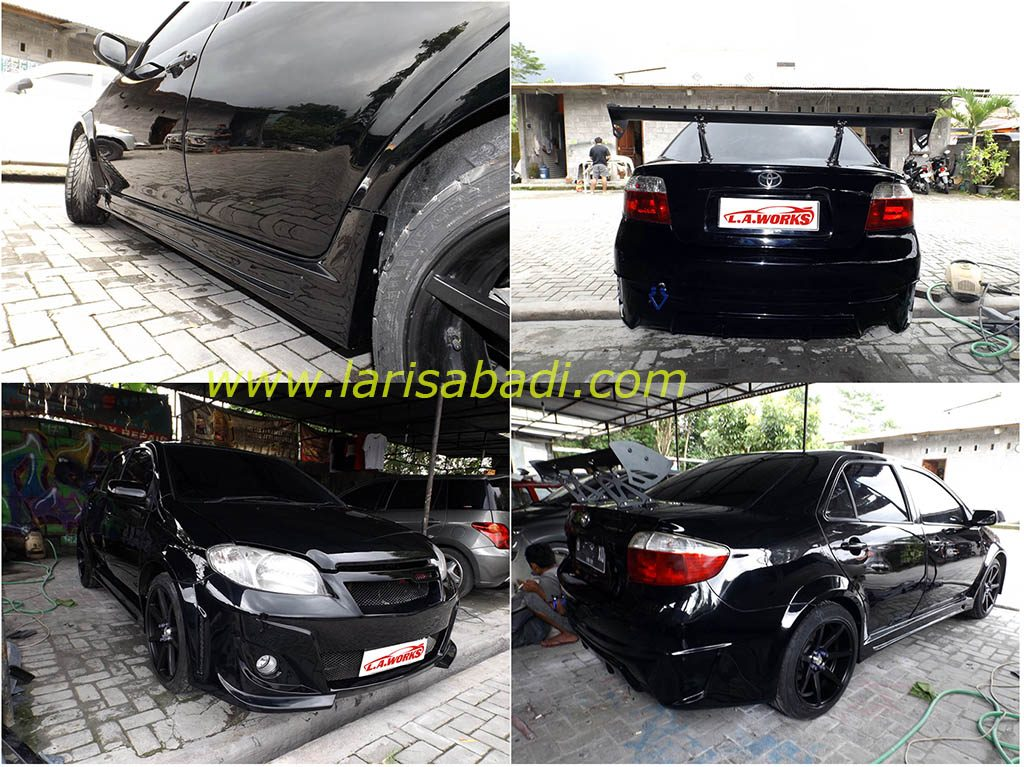 Vios 2004 Wide Body, GT Wing and Bodykit